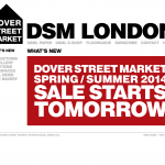 1776e.DOVER STREET MARKET: London is Starting sale? Ginza is final delivery.