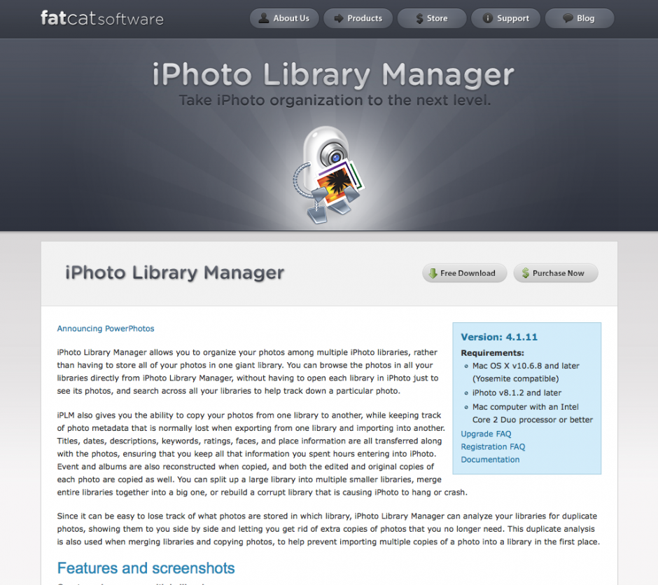 iPhoto Library Manger