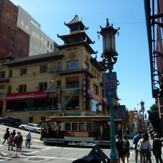 China town and cable car