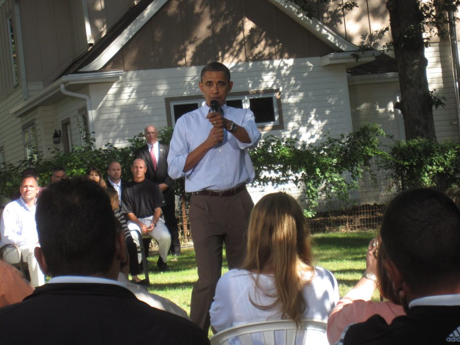 Obama backyard discussion