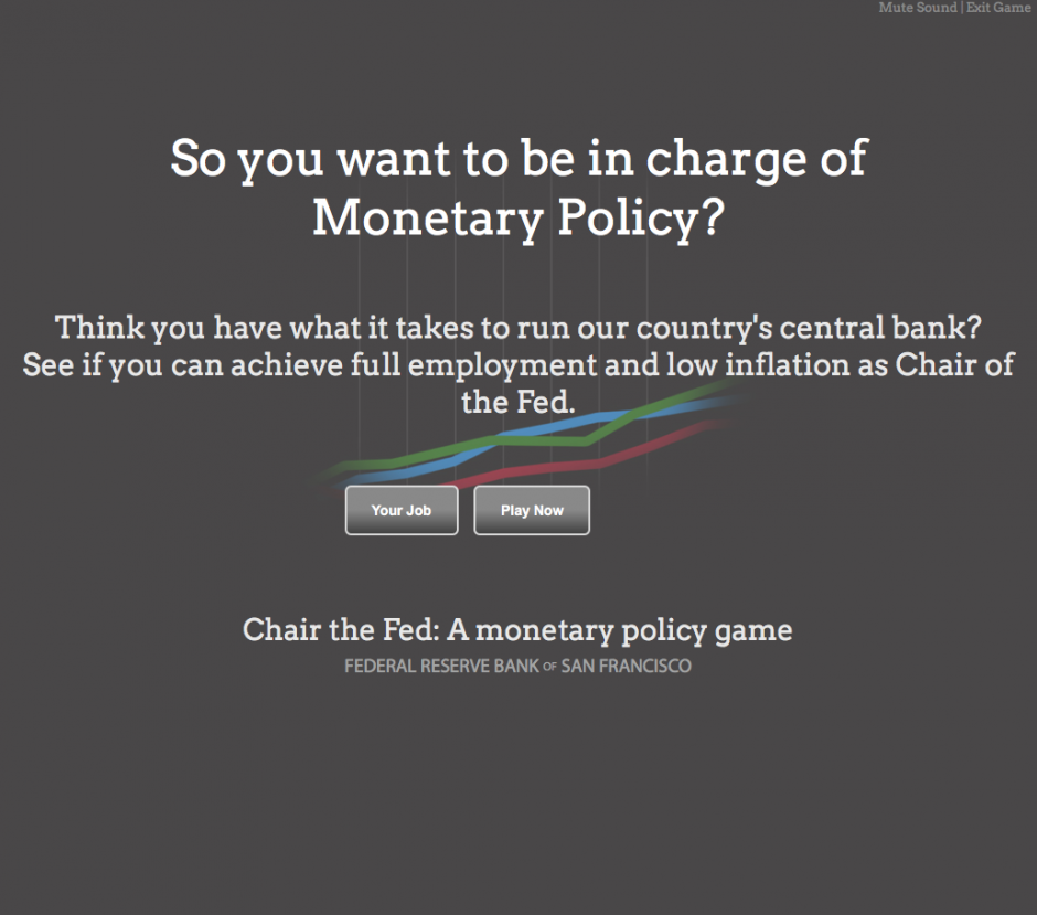 Chair the Fed: A monetary policy game by  FEDERAL RESERVE BANK OF SAN FRANCISCO