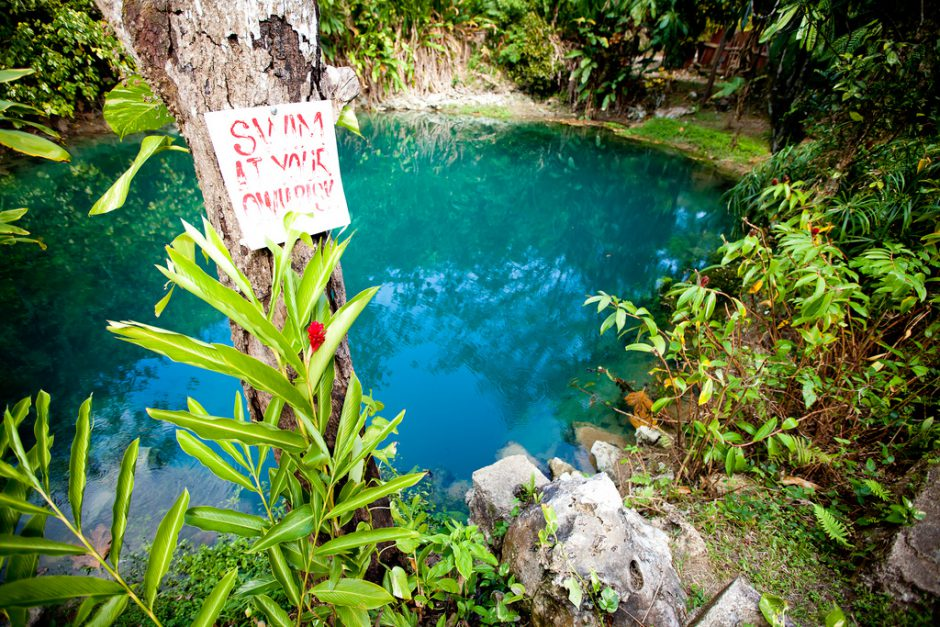 Swim at your own risk in the Blue Hole